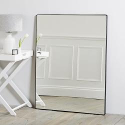 Chiltern Rectangular mirror, 113 x 88cm, Black