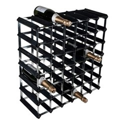 42 bottle wine rack, H62 x W62 x D23cm, black ash/galvanised steel