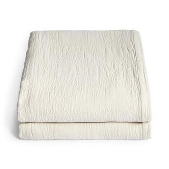 Lombard Matelassé blanket King, oatmeal