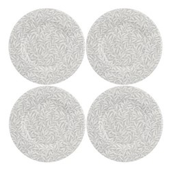 Pure Morris - Willow Bough Set of 4 plates, 22cm, grey/white