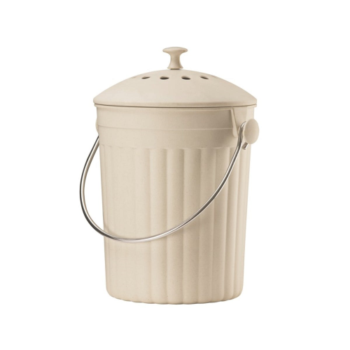 Eco compost pail, 28 x 18cm - 4.5 litre, Cream