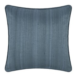 Silk cushion, 45 x 45cm, steel blue