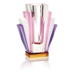 South beach Vase, L22.8 x H8 x D17.5cm, purple/ clear/ yellow/ white/ fuchsia
