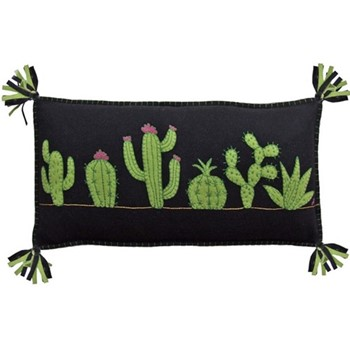 Fiesta  Cushion, Fiesta Cactus, 58 x 30cm, black