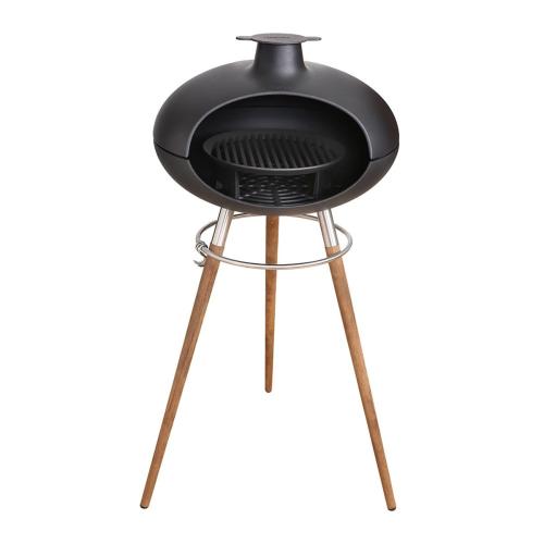 Forno II Grill on stand, H1100 x W550 x L60cm, Black