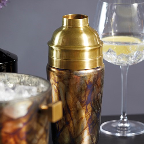 Barcraft Cocktail shaker, 700ml, mecury fire glass