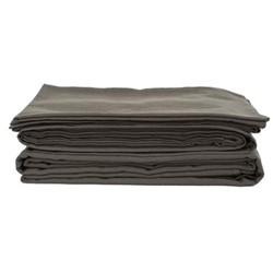 King size flat sheet, 275 x 275cm, olive grey