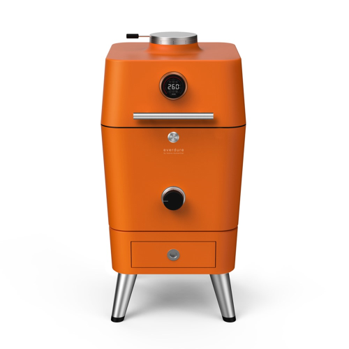 4K Electric ignition charcoal outdoor oven, H115 x D70 x W55cm, Orange