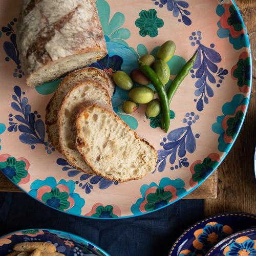 Majolica Majolica Ceramic Round Serving Platter, Multi