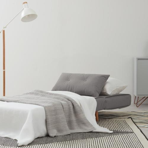 Haru Single sofa bed, H78 x W77 x D86cm, Marshmallow Grey