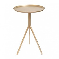 Tripod table, H58cm x Dia37cm, matt gold/brass