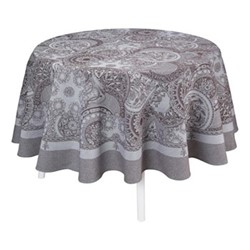 Porcelaine Tablecloth, Dia210cm, beige