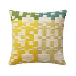 Pennan Cushion, L48 x H48cm, green/yellow