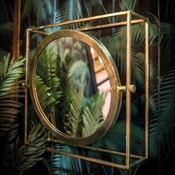 Orion Mirror, H51 x W51 x D15cm, gold
