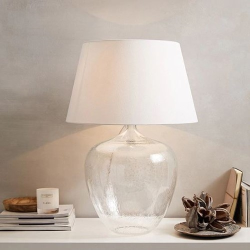 St Ives Table lamp, H72 x Dia50cm, Clear Glass