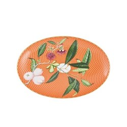 Tresor Fleuri Side dish, L23.5cm, orange