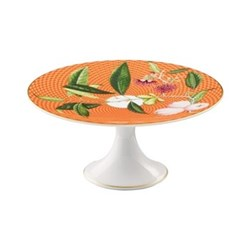 Tresor Fleuri Petit four stand, D16 x H7.5cm, orange