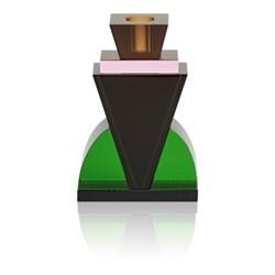 Queens Candleholder, L9.6 x H14 x D4cm, green/black/rose/brown