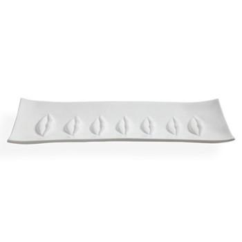Muse Gala rectangular tray, W52.71 x D19.69 x H3.18cm, white