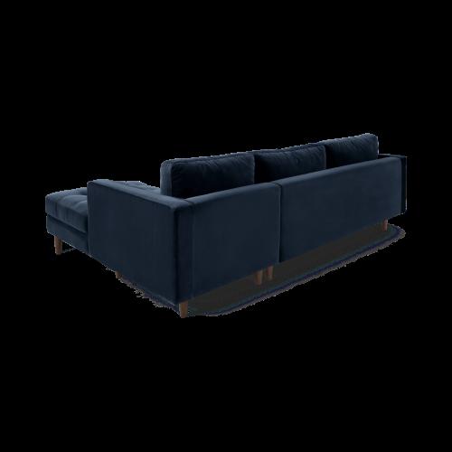 Scott 4 seater right hand facing corner sofa, H84 x W259 x D100cm, Navy