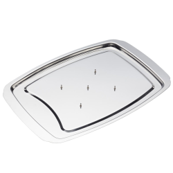 Spiked carving tray, 37 x 28cm, stainless steel