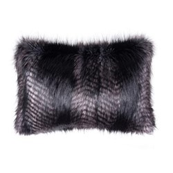 Signature Collection Cushion, 30 x 45cm, black quail