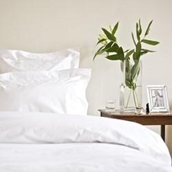 Classic - 400 Thread Count King size duvet cover, W230 x L220cm, white sateen cotton