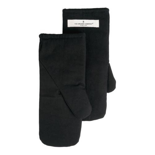 Canvas Medium oven mitts, 14 x 31cm, Black