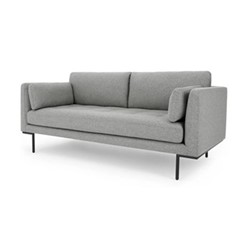 Harlow Large 2 seater sofa, H83 x W187 x D89cm, mountain grey