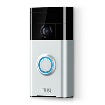 Smart video doorbell with built-in Wi-Fi and camera L12.65 x W6.17 x H2.21cm