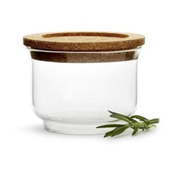 Nature Small glass jar, Dia11.5cm, cork