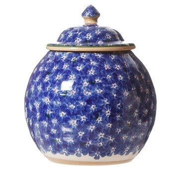 Lawn Cookie jar, H22.9 x W10.8cm, dark blue