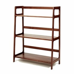 Agnes by Kay + Stemmer High shelving unit, W80 x D40 x H175cm, walnut
