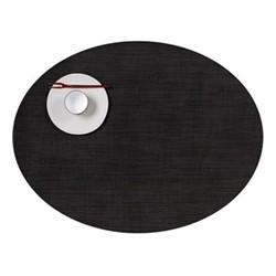 Mini Basketweave Set of 4 oval placemats, 36 x 49cm, espresso