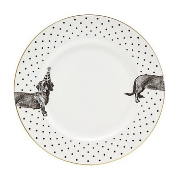 Party Pup Set of 6 dinner plates, 26cm