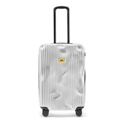 Stripe Medium suitcase, H68 x W45 x D26cm, white