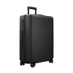 H6 Medium check-In trolley suitcase, W46 x H64 x D24cm, all black