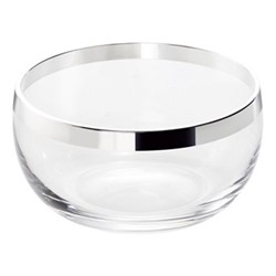 Elegant Bowl, H7 x W13cm, crystal and sterling silver