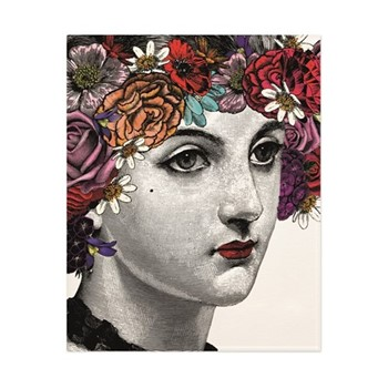 Flower Lady Art print, H50 x W40cm, multi