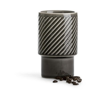 Coffee & More Large stackable mug, 40cl, grey