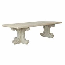 Tjikko Dining table, L100 x W281 x H77cm, natural wood