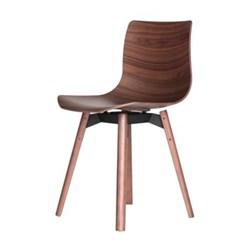 Walnut chair H76.5 x W46 x D46cm