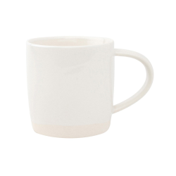 Shell Bisque Set of 4 mugs, 9 x 9cm, White