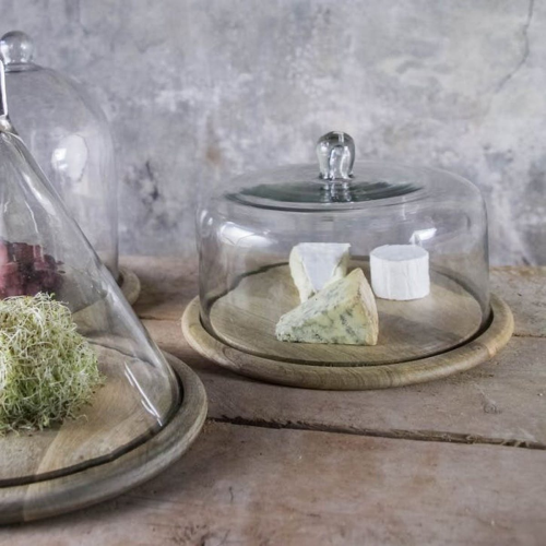 Cake dome, 23 x 34cm, Recycled Glass