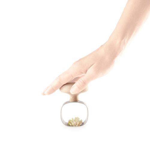 Green Tools Garlic masher, H9.5 x Dia6cm, Beige/ Natural