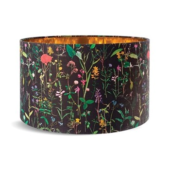 Aquafleur Anthracite Small drum lampshade with metallic gold lining, H22 x L35 x W35cm, anthracite