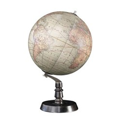 1920s Globe, H50 x W32.004 x L32cm, honey distressed wood