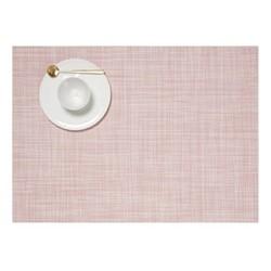 Mini Basketweave Set of 4 rectangular placemats, 36 x 48cm, blush