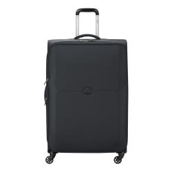 Mercure 4 wheel expandable trolley case, 79cm, Black