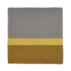 Espinillo Knitted throw, L170 x W130, yellow